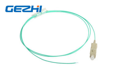 چین FTTx SC Fiber Optic Pigtail Connector OM3 - 300 10G , SC Pigtail MM 5M Aqua تامین کننده