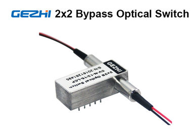 چین 2x2 Bypass Mechanical Fiber Optic Switch 1310 / 1550nm Latching OXC system کارخانه