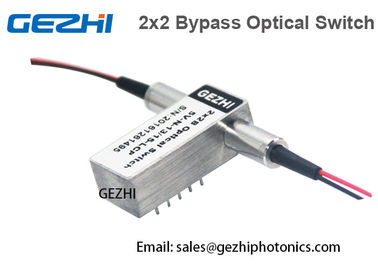 چین 2x2B Opto - Mechanical Fiber Optical Switches Optical Bypass Switch کارخانه