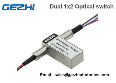 چین Dual 1x2 Fiberoptic Switch Singlemode Mechanical 2x4 Optical Switch Non-Latching کارخانه