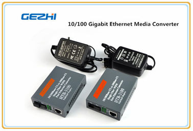 چین 25KM 10/100 Gigabit Ethernet WDM Bi Directional Single Link NetLink Media Converter کارخانه