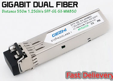 چین 1.25G 850nm Fp 550m Lc Mmf Small Form Factor Pluggable Transceiver Fcc Compliant Sfp توزیع کننده