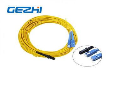 چین LC / APC Patch Cord MT - RJ to SC Singlmode Duplex Zipcord Without Clip Yellow کارخانه