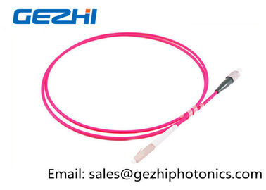 چین LC / PC - FC / PC Optic Patch Cord Jumper OM4 50/125um Multimode LSZH 2M Pink Jacket کارخانه